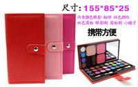 eyebrow shadow - 2014 High Quality Wallet shape Professional makeup color eye shadows blush pressed powder colors Eyebrow