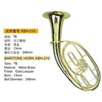 Wholesale Baritone Musical instrument Large paint gold b tube key