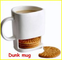 Wholesale Pieces ml Dunk Mug Ceramic Cookies Mug with Biscuit holder
