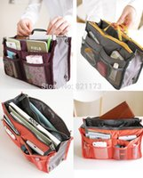 Wholesale Newest Lady Loves Necessary Women Travel Insert Handbag Purse Large liner Cosmetic bags Organizer Bag Storage Bags Amazing