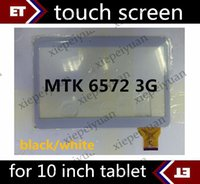 Wholesale 20PCS original Touch Screen with Glass Digitizer Replacement for inch MTK6572 MTK8312 G phtablet Tablet PC TC15