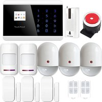 auto dial alarm - Android TFT Color Display App Control Wireless Touch Keypad GSM Home Security Alarm System it with Auto Dial Wireless Pet immune Infrared
