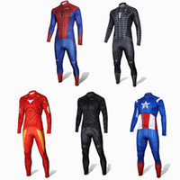 america suit - 2015 Brand Captain America Team Men Cycling Jerseys Cycling Wear MTB Bicycle Clothing Ropa Ciclismo Pants Suits