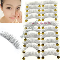 Wholesale Promotion Pairs Of Reusable Natural and Regular Long False Eyelashes Artificial Fake Eyelash