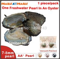 Wholesale 50pcs Individually Vacuum Packed Oyster with One mm Round Pearls Cultured in Fresh Oyster