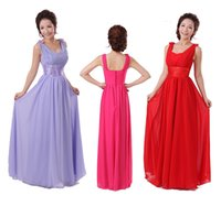 Wholesale 2015 new women wedding evening two shoulder prom long chiffon formal party bridesmaid ruched dress white purple plus size under