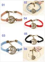 achat en gros de arbre de souhaits bracelet-200pcs Livraison gratuite! Bracelet nouvel arbre de souhait, pendentif en argent antique souhait arbre - Bracelet en cuir - Meilleur cadeau choisi, arbre de vie