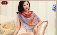 Wholesale 2015 new Shanghai story of silk kerchief Mulberry silk scarves female the spring and autumn and winter