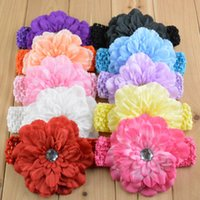 silk hair band - South Korea silk hair band with peony Baby hair band Girls wearing children tire color