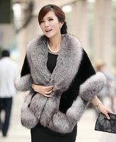 women cape shawl - 2016 New Winter Leather grass fox fur mink rabbit fur poncho cape bridal wedding dress shawl cape women vest fur coat