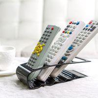 Vakind appliance holders - Practical Wrinkled Section Home Appliance TV DVD VCR Remote Control Stand Holder Storage Organiser Mobile Phone Holder Black
