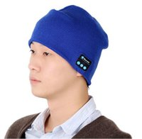 Wholesale Bluetooth Music Hat Soft Warm Beanie Cap with Stereo Headphone Headset Speaker Wireless Microphone V887 DHL Free