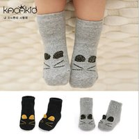 age cats - Children Cotton Socks For Autumn Winter Baby Girls Cartoon Socks Cat Pattern Cute Clothing For Kids Fit Age SS504