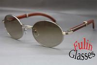 Wholesale Hot Vintage Sun Glasses Wood Sunglasses Size mm