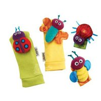 Wholesale Lamaze Garden Bugs Wrist Rattle Foot Finder Baby Set Plush baby toys Educational toy High Contrast with box L0392C