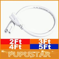Wholesale 2FT FT FT FT Cable for Integrated T5 T8 led tubes lights Connector