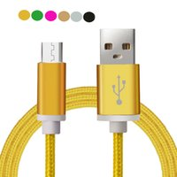 ap mobile phone - Luxury Aluminum Metal Braided Mobile Phone Cables Micro USB Data Cable For Samsung Galaxy S3 S4 S6 Not2 Note4 ap Fast Charge V8 Cable