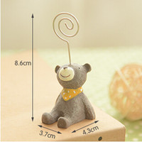 Wholesale animal cartoon photo frame memo note business card holder stand clip desktop display POP clip