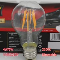 incandescent light bulb - Most popular K soft white dimmable LED vintage filament bulb A19 edison style W to Replace W incandescent bulb E27 LED Bulb Light