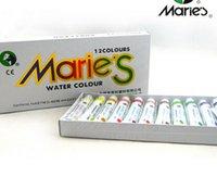 Wholesale 12colors set Marie s gouache paint calligraphy tela de la pintura water color watercolor set aluminium paper kuretake