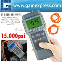 Wholesale Professional Digital Economic Manometer psi Gauge Differential Pressure meter bar mmHg inHg kPa mbar