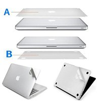 Wholesale Full body sticker for Macbook guard Case Bottom Cover Protective Film and sliver palm guard slim for apple macbook retina pro air