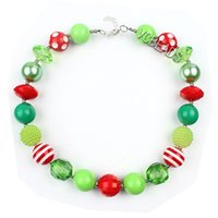 Wholesale Beads Necklaces Fancy Jewelry Photography Props Christmas Decoration Candy Colors Chunky Necklace Beaded Necklaces Kids Christmas Jewelry