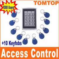 RFID Access Control - RFID Entry Metal Door Lock Access Control System Key Fobs H4391 freeshipping Dropshipping