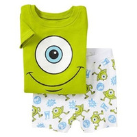Wholesale Monsters Summer Boys Pajamas Suits Short Sleeve Pijama Children Pyjama Sets