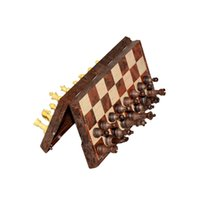ancient chess set - Ancient classic retro style copy wooden design in magnetic chess set checkers games