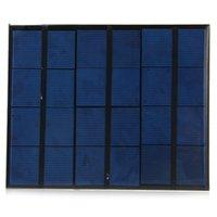 Venta al por mayor 10pcs / lot 3.5W 6V epoxi policristalino silicio mini células solares con salida USB mini panel solar para DIY / Test- NEGRO