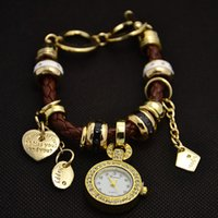 al por mayor reloj de las mujeres de cristal de múltiples-Relojes de pulsera de señora Quartz Crystal Watch de las mujeres de la manera del reloj de la pulsera de los encantos al por mayor FSW231