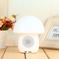 audio level control - T6 Bluetooth Speaker Mushroom Portable Wireless Bluetooth Speaker level Touch Control LED Light Table Lamp with TF Card