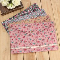 Wholesale Dot Floral A4 Pouch Bag School Students Document Paper Case Lovely Korean Office Filing Products Accessory