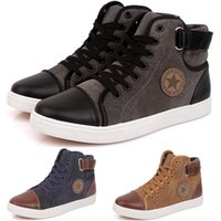 Wholesale New Brand Shoes For Men Casual Canvas Shoes Fashion High Top Men High Tube High Quality Flat Men Shoes