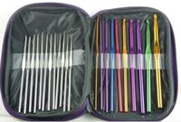 aluminum knitting needles - Ostart Mixed Aluminum Handle Crochet Hook Knitting Knit Needle Weave Yarn Set