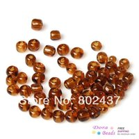 Cheap (6 0) Glass Seed Beads Jewelry Making Tawny About 4x3mm,Hole:Approx 1mm,450 Grams(approx 6400PCs Bag) (B32986)