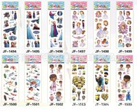 Wholesale My little pony Elsa anna Winnie Snow White spiderman D Cartoon Sticker Decorative Stickers toys stickers kids toys cm HOT6