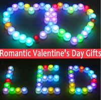 Wholesale LED Candle Light Party Wedding Tealights Event Flameless Flickering Battery Candles Birthday Home Decorative Colorful Valentine s Day Gifts