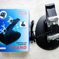 Wholesale PS4 Controller Charge Stand Dual Charger Dock for PS4 Controllers S13 Controller Charging Stand With USB Cable Charge Holder for PS4