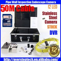 Wholesale Freeship m cable DVR Pipe Wall Sewer Inspection Camera System HZ Sonda Transmitter Locator