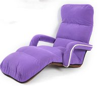adjustable chaise - Floor Sofa Bed Adjustable Foldable Soft Chaise Lounge Recliner Armchair Colors Living Room Seating Furniture Upholstered Sleeper Couch