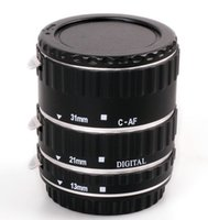 Wholesale Metal Auto Focus Macro Extension Tube for Canon EOS EF EF S D X D Mark III D D D D D D Small order no tracking