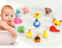 duck swim - Assored Animal Bath Toy Bath Washing Sets Children Education Toys Toys Rubber Yellow Ducks Children Swiming Gifts Children s Swimming Gear
