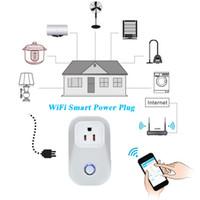Wholesale EU US Standard Intelligentized power Socket WiFi Wireless Smart Power Socket Cell Phone Long range Remote Control Plug Smart power plug