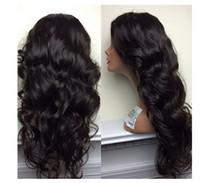 La india al por mayor del pelo natural Baratos-Peluca llena brasileña sin procesar del cordón del pelo humano de la Virgen del pelo humano de la venta del 100%