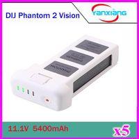 Wholesale 5pcs New mAh Lipo Battery V with Vlotage Display for DJI Phantom Phantom Vision Phantom Vision Quadcopter ZY DJI