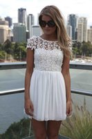 Cheap Embroidery Cheap Casual Fashion Short Sleeve Backless Sexy Short Cocktail Dresses High Quality Chiffon A-Line Prom Party Homecoming Dresses