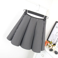 Wholesale Space cotton black and white vertical striped skirts tutu skirt female A letter sheds new winter Korean Women