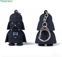 Wholesale Star Wars Galactic BattleGrounds Saga Darth Vader Jedi Outcast LED Luminous keychain Creative Chain Key Pendant Free Shiping